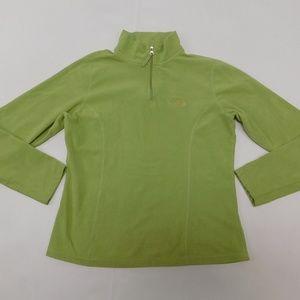 The North Face S Green 1/4 Zip Fleece Pullover  Po